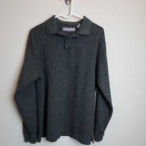 Pierre Cardin Mens Pullover Collared Sweater Sz L